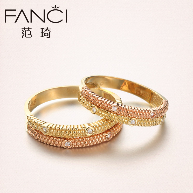 Buy Fan Qi Simple Couple Rings Wedding Ring K Gold Ring Korean Female Models When Shang Baddeleyite Color Gold Jewelry In Cheap Price On M Alibaba Com