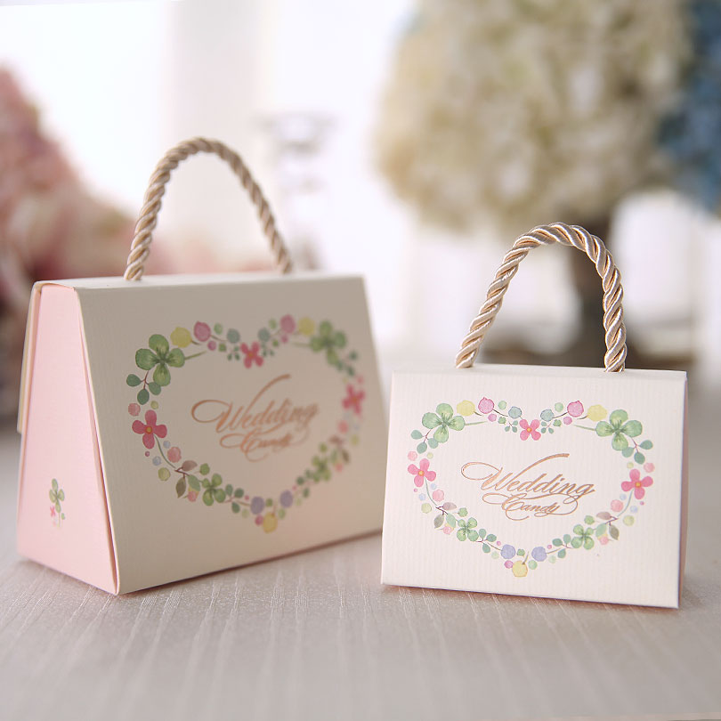 Flash Euclidian Printed Personalized Wedding Candy Box Creative Carton Gift Bag Of Whole In Price On