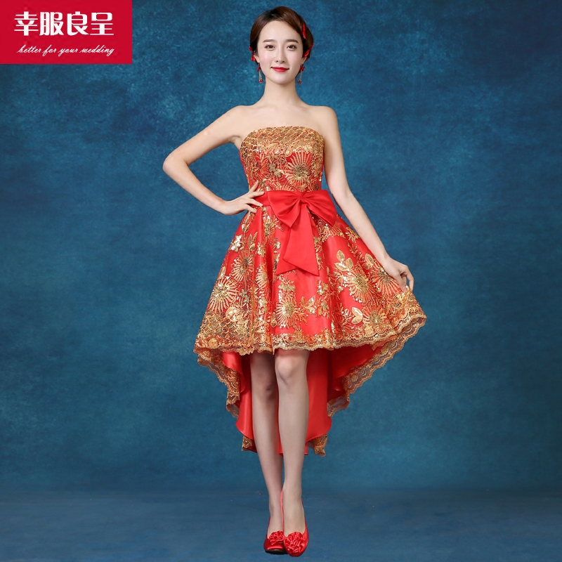 Buy Fortunately good clothes were 2016 new red wedding dress short ...