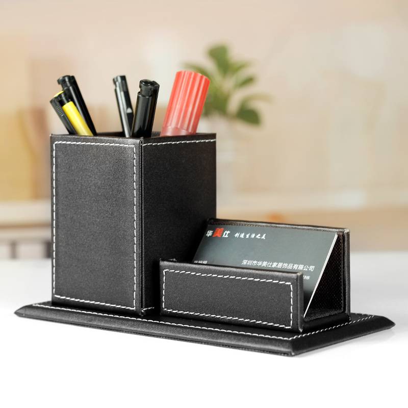 Ordinaire Buy Free Shipping Luxury Leather Business Card Holder Multifunction Pen  Korea Creative Business Office Stationery Desktop Ornaments In Cheap Price  On ...