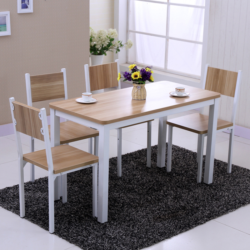 Buy Free Shipping Small Apartment Dining Table Minimalist Modern Wood Dining Table Dining Table And Four Chairs Combination Restaurant Dining Table Custom In Cheap Price On Alibaba Com