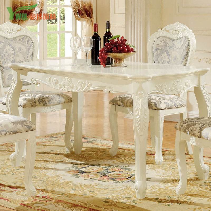 Beau Buy French Pastoral Wood Carved White Rectangular Dining Table Dining Table  Continental Carved Dining Tables And Chairs Combination Dinner Table In  Cheap ...