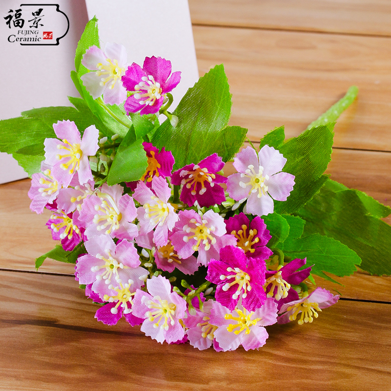 Fu King Silk Plastic Starry Artificial Flowers Decorative Fl Suit Whole Penger Hall Decorations Interior Decoration In