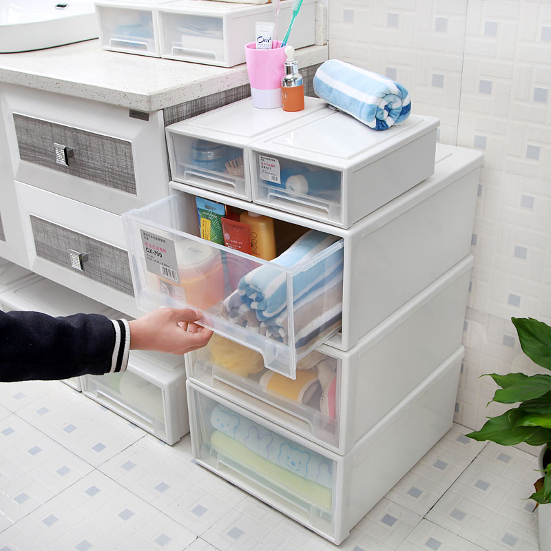 Buy Ganxiang House Pumping Transparent Plastic Storage Box Clothing Storage  Cabinet Finishing Cabinet Baby Wardrobe Storage Box In Cheap Price On  M.alibaba. ...