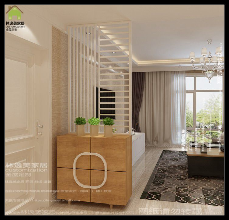 Attrayant Hall Cabinet Minimalist Modern Walnut Color Hollow Wall Panels Entrance  Hall Cabinet Shoe Cabinet Partition Cabinet Entrance Cabinet