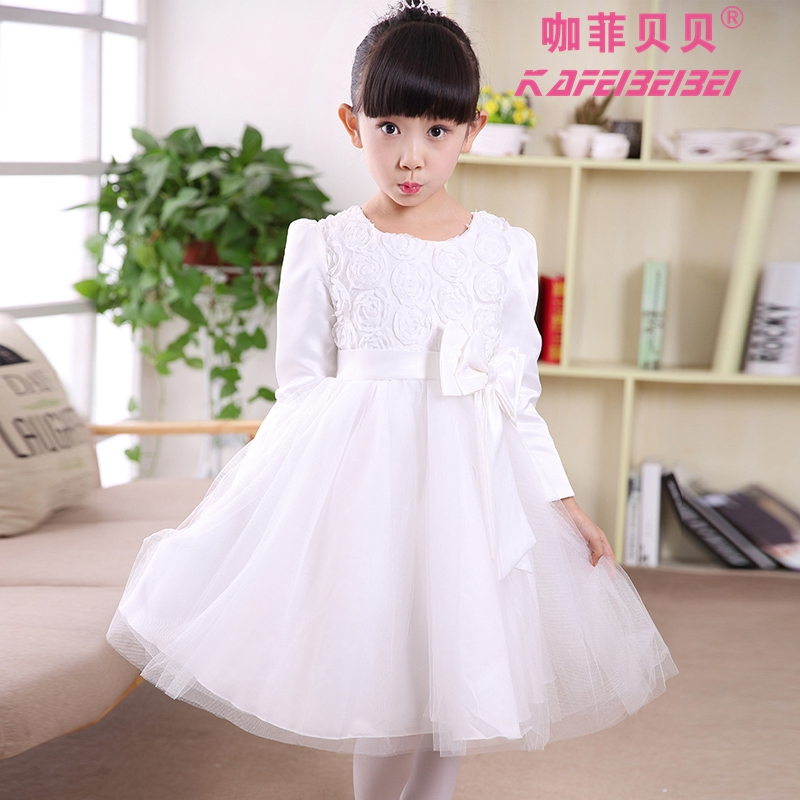Buy Halloween snow white princess dress little girls fall and winter ...