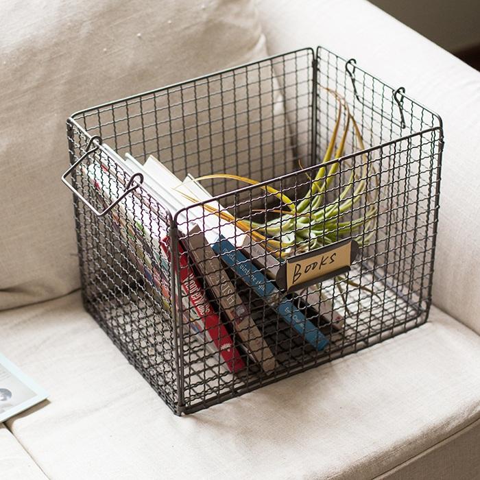 Buy Han Skim Wrought Iron Storage Basket Storage Basket ...