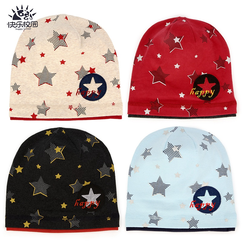 76672a5ebfc Happy campus 6Â years old male and female children cotton cap baby hat  hedging spring and autumn new treasure treasure warm cotton hat