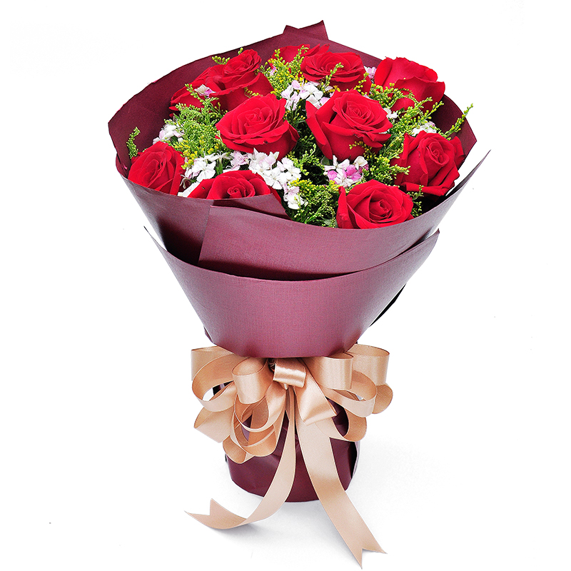 Buy Hegang City Flower Delivery To Send His Girlfriend Confession Birthday Gift Bouquet Of Red Roses Nationwide Florist Home In Cheap Price On