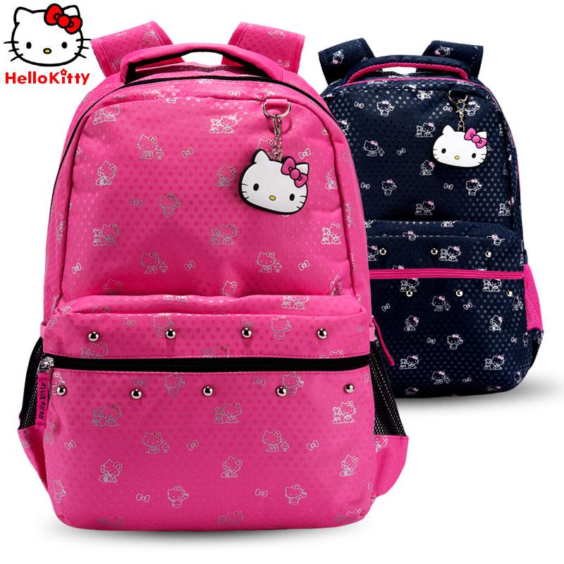 07b6270b51 Hello kitty hello kitty children s school bags primary grades junior high school  girls leisure backpack female bag