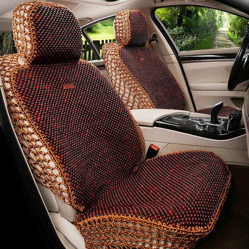 Buy High Wooden Bead Car Seat Cushion Summer New Refrigeration Liangdian Ice Silk The Whole Package Four Seasons Wood Beads In Cheap Price On