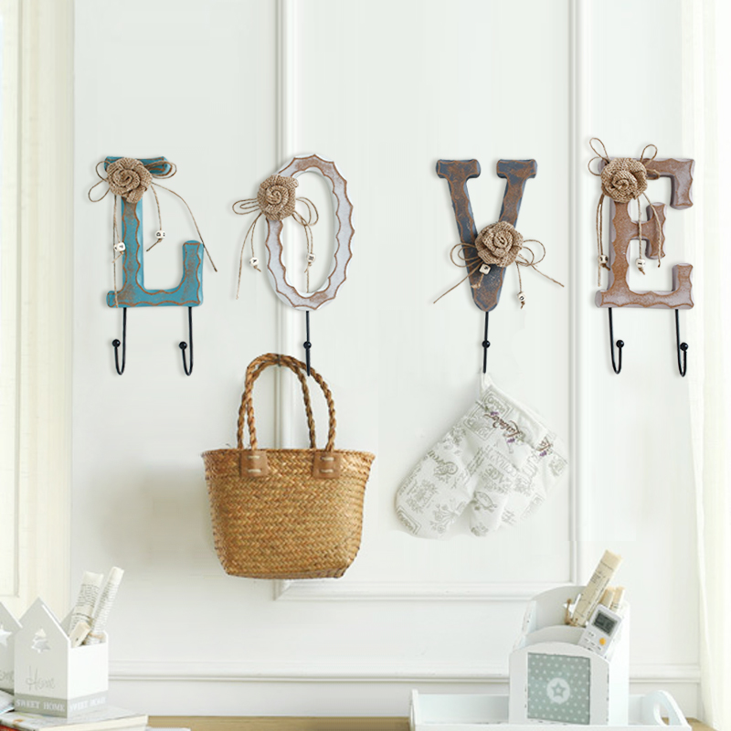 Home Accessories American Creative Personality Coat Hooks Wall Rack Decorative Wooden In Price On M Alibaba