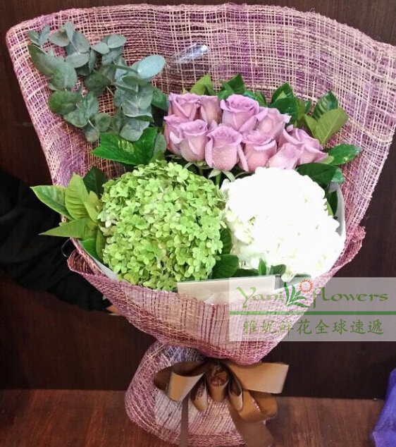 Buy Hong Kong Mothers Day Flower Delivery Florist Flowers City Express Order Noble Rose Embroidery Ball Nosegayccedilocentindustry In Cheap Price On