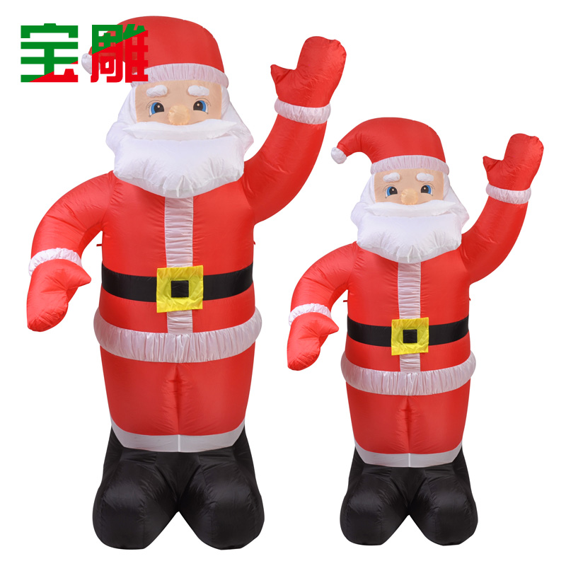 Bon Buy Inflatable Santa Claus Christmas Decorations Carved Treasure  Illuminated Inflatable Santa Claus Inflatable 2.4 M In Cheap Price On  M.alibaba.com