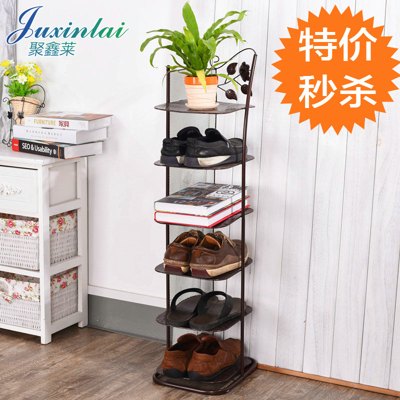 Buy Iron Multilayer Shoe Rack Slippers Rack Creative Living Room Dormitory  Simple Shoe Storage Shoe Landed With Small Shoe Shoe Dormitory In Cheap  Price On ...