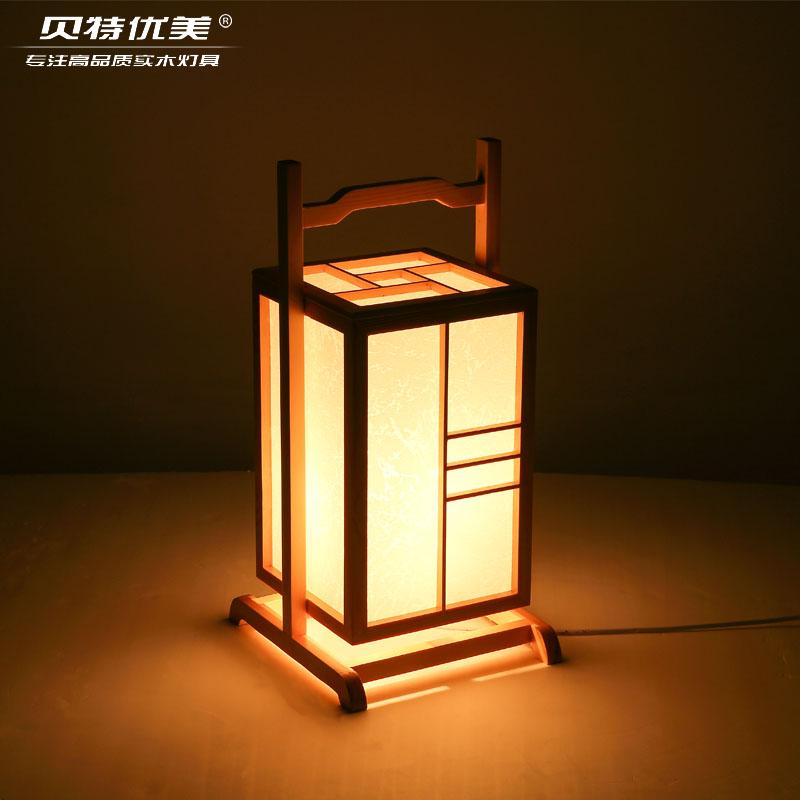 Wood Floor Lamp Lantern Korean Bedroom