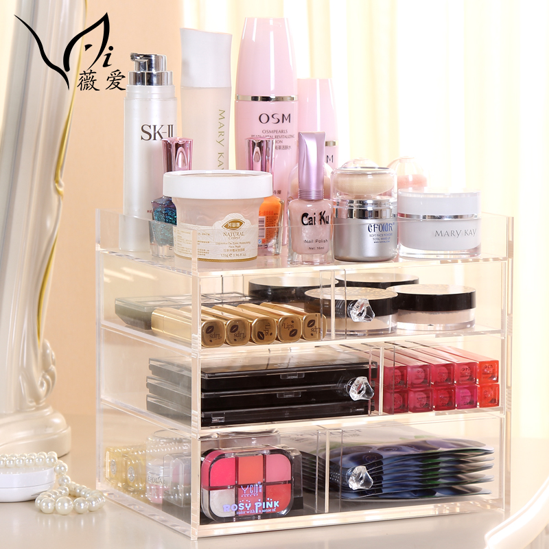 Cosmetic Drawer Wooden Storage Box