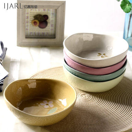 Buy Ka billion japanese and korean style ceramic tableware creative fruits and vegetables salad bowl soup bowl of soup bowl rice dish dish painted in Cheap ... & Buy Ka billion japanese and korean style ceramic tableware creative ...