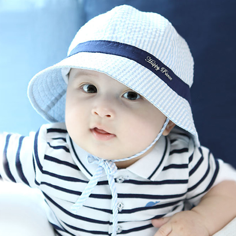 4d589dd0f43 Buy Korean baby hat spring and summer new infants and young children  striped hat bucket hats sun fish cardiff cap influx of korean men and women  in Cheap ...