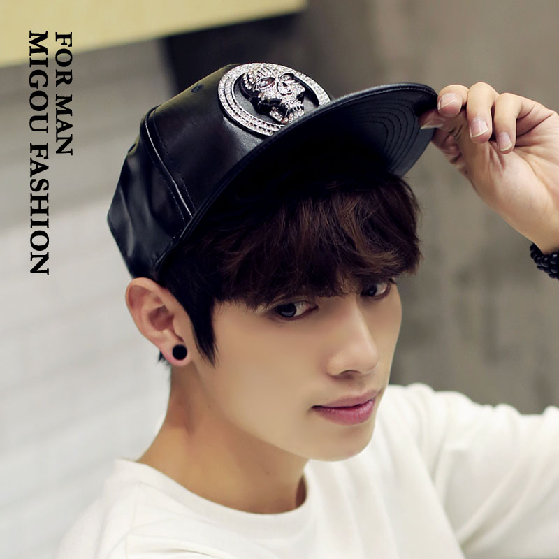 Buy Korean fashion tide cool skull full of diamond hip hop cap flat brimmed  hat baseball cap spring and summer hat male hat female couple in Cheap  Price on ... 9f09355d901