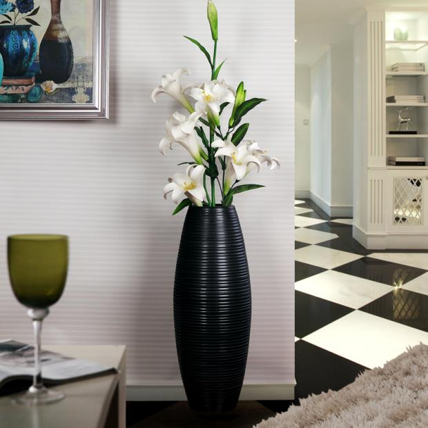 Buy Black and white lines of fashion living room floor vase modern on black accent table, black basket, black bowl, black floor bedroom, black urn, black floor coffee table, black console table, black tile bathroom, black floor clock, black sculpture, black and red vases, black decorative vases, black desk, black floor wood, black long vases, black floor mirror, black umbrella stand, black ottoman, black floor sofa, black teapot,