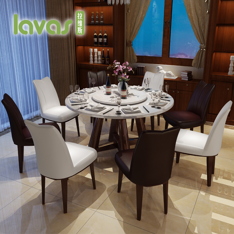 Lavis marble round table dinette combination of modern minimalist apartment  size dining table and chairs combination