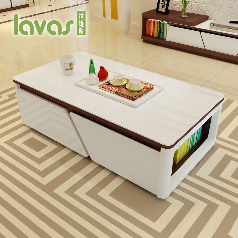 Lavis Size Apartment Furniture Modern Minimalist Scandinavian Living Room Coffee Table Storage Fashion Personality In