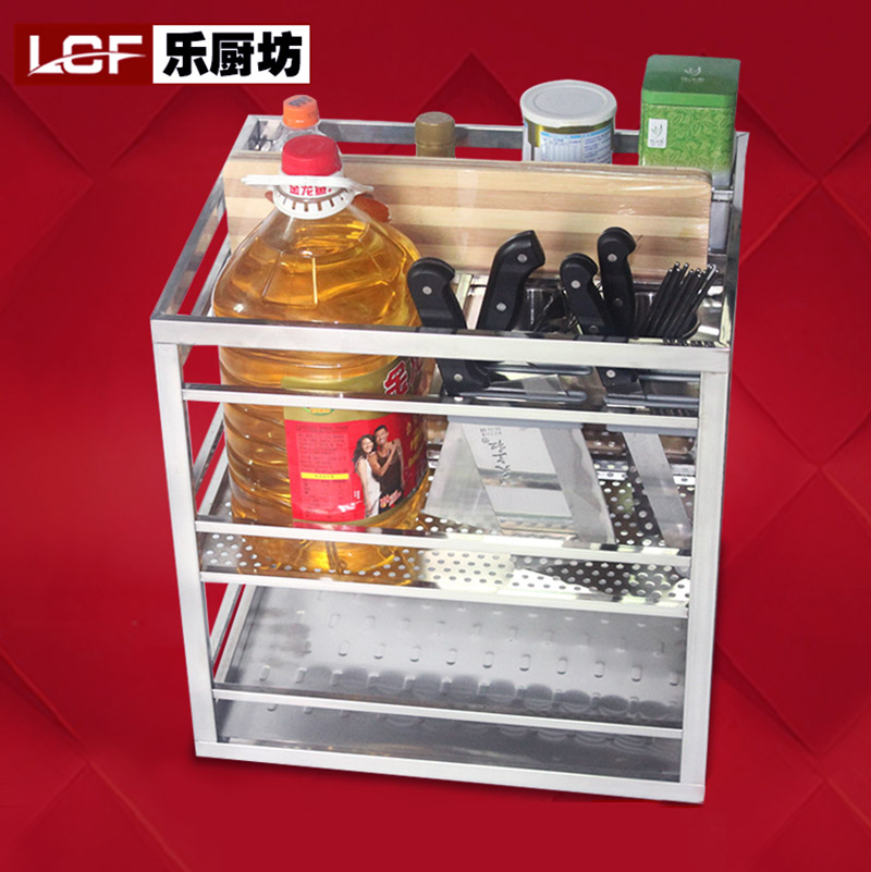 Le Kitchen Corner Cabinets Stainless Steel Square Seasoning Basket Multifunction Three Drawer Cabinet Baskets In Price On