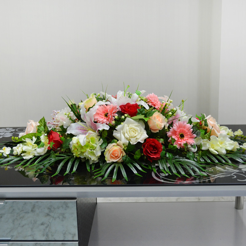 Buy conference table flowers table flowers red roses lily gerbera lecture podium conference table flowers artificial flowers silk flower living room furnishings fake plastic office suite hotel mightylinksfo