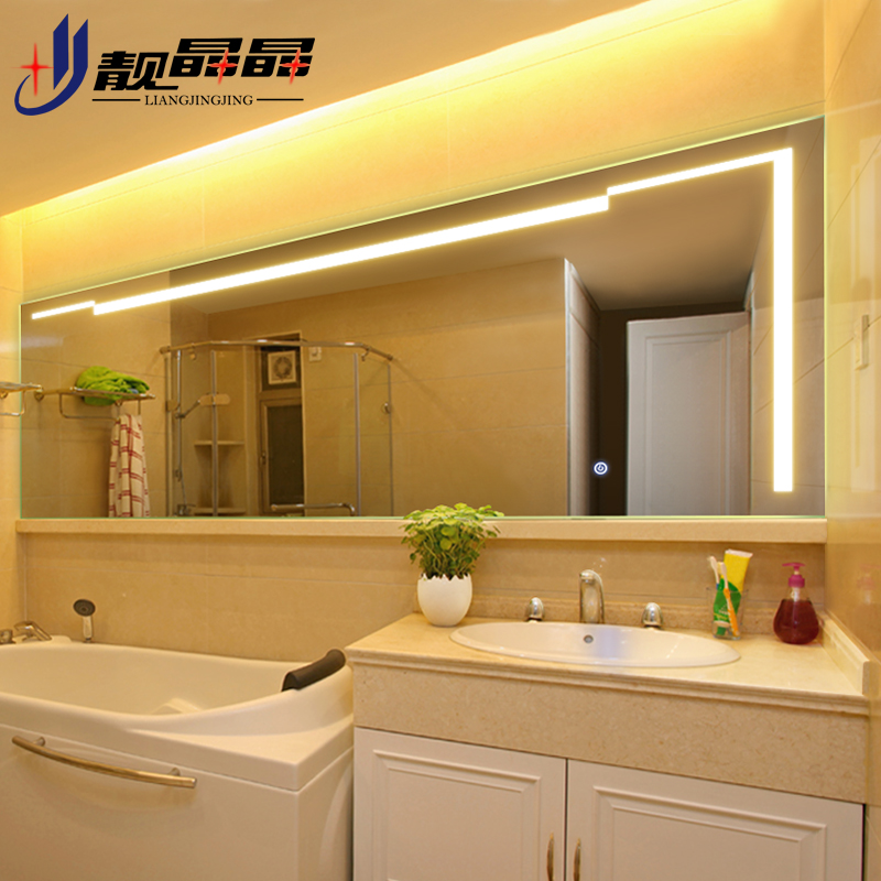 frameless bathroom vanity mirror fitted bathroom buy liang jingjing frameless wall mirror bathroom sink vanity hanging led illuminated translucent in cheap price on