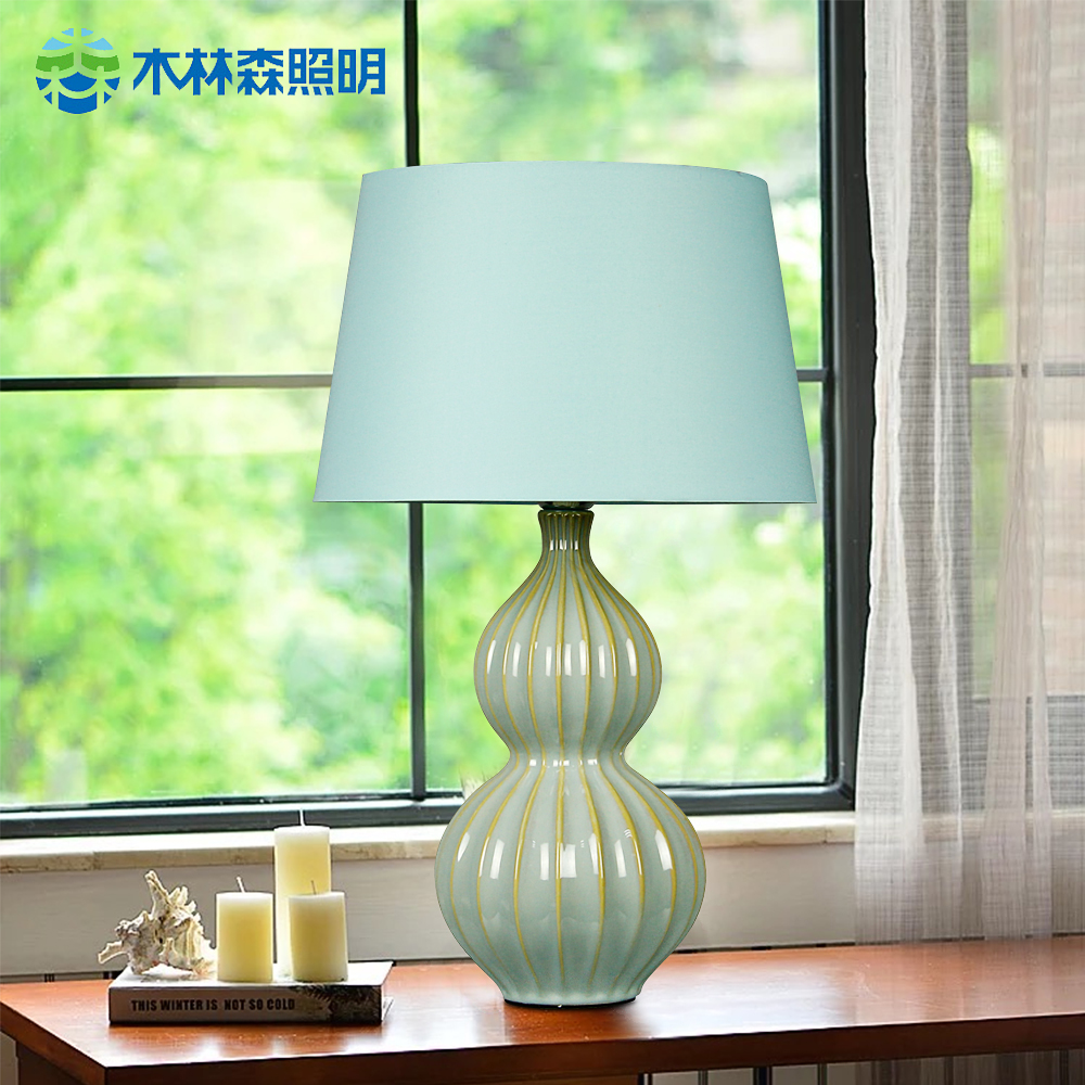 Buy Linsen lighting ceramic table lamp table lamp american ...
