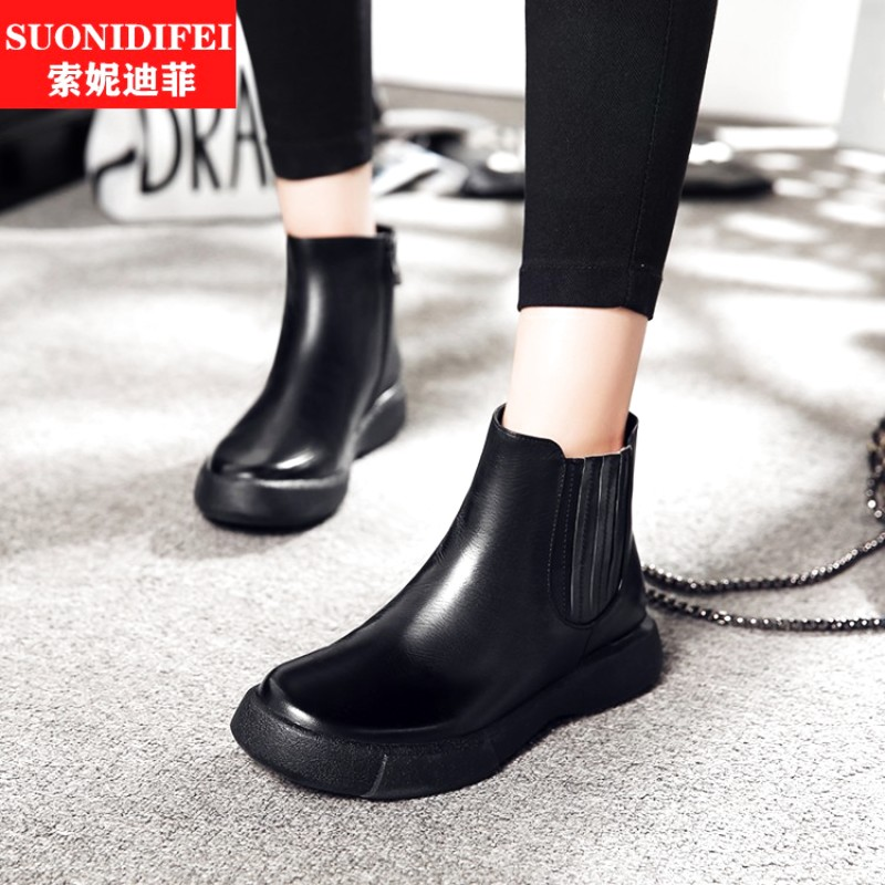 2a90c78607c4 Buy Martin boots flat boots flat heel shoe repair dough duantong autumn and  winter boots shoes boots women black foam rubber in Cheap Price on  Alibaba.com