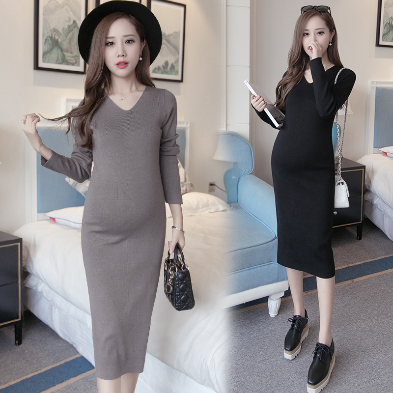 Buy Maternity Fall And Winter Clothes Maternity Pregnant Women Sweater Coat And Long Sections Of Pregnant Women Bottoming Shirt Tide Mom Maternity Dress Pregnant Women Dress Winter In Cheap Price On Alibaba Com