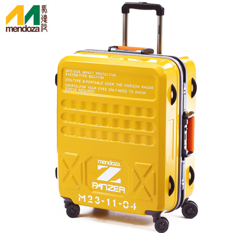 e36a6fe971 Buy Mendoza panzer mute men and women fashion business aluminum frame trolley  suitcase caster travel box board chassis 22 in Cheap Price on m.alibaba.com