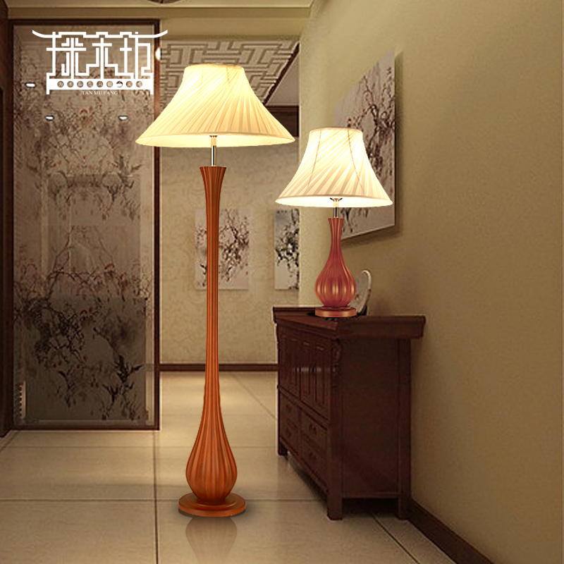 Minimalist Modern Chinese Solid Wood Living Room Floor Lamp Decorative Lamps Study Verticle Ikea Bedroom Bedside In Price On