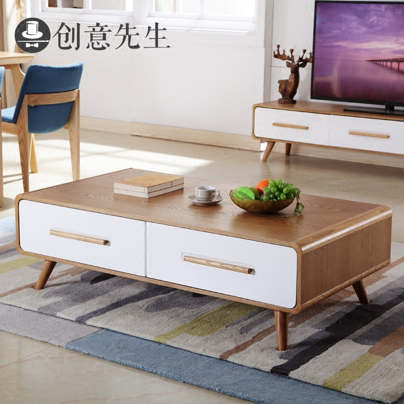 Mr Creative Nordic Wood Coffee Table Storage Cabinet Modern Minimalist Tv Combination Of Green Futon Furniture In Cheap Price On