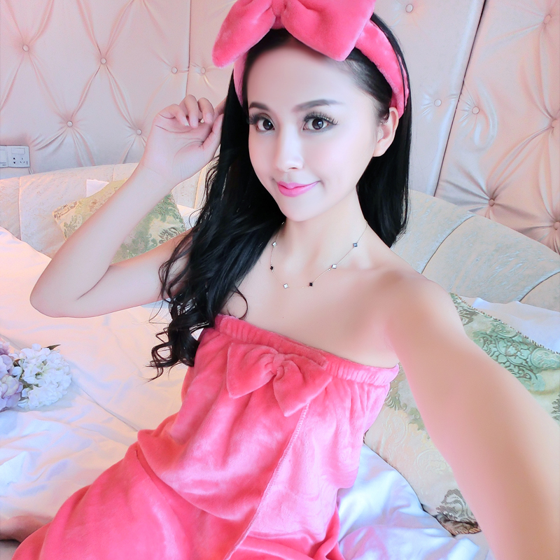 83a9f7b154 Buy Ms. autumn and winter flannel pajamas robe bathrobe home service  lingerie bra coral velvet towel can be adjusted female in Cheap Price on  m.alibaba.com