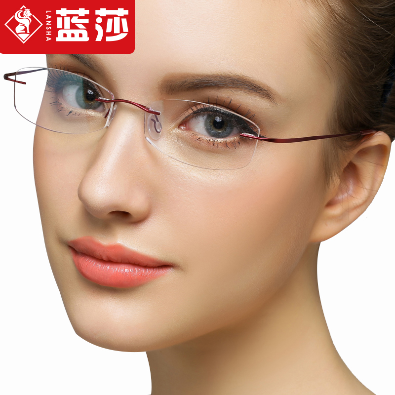 85b8b88f3e84 Ultralight rimless titanium glasses frame glasses male eye glasses frame  optical myopia chromotropic square glasses finished