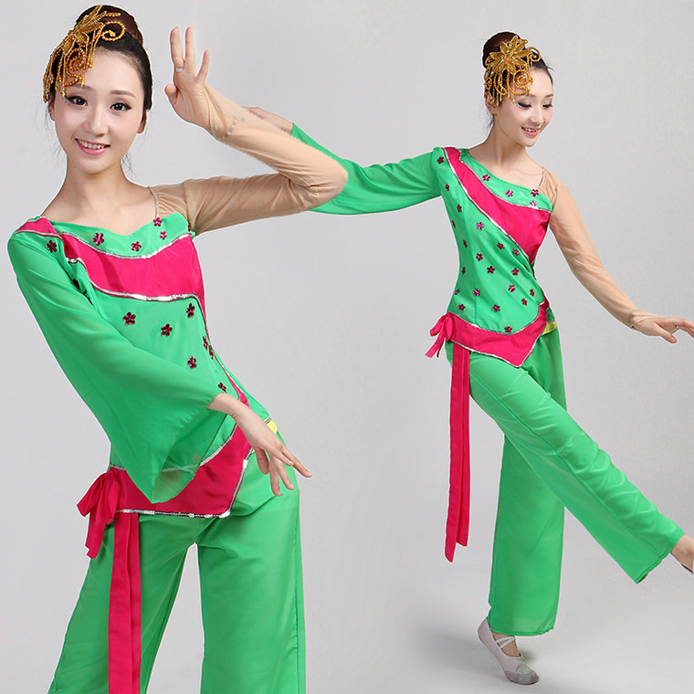 feecf1e8effe Buy New classical dance costume dance costume younger fan dance costume  costumes china ethnic dance umbrella dance 2016 spring and summer in Cheap  Price on ...