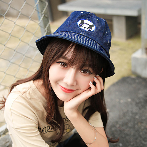 Buy New female korean women in spring and autumn fashion cute cartoon dog  embroidery sun hat korean fisherman hat bucket hats in Cheap Price on  m.alibaba. ... fc01b3b52e2