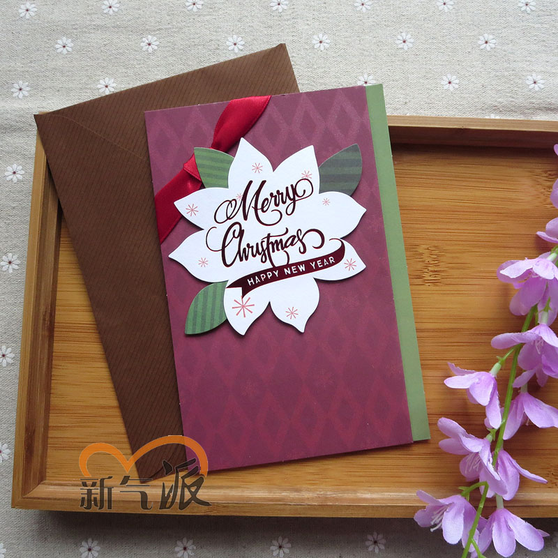 buy new style new three dimensional christmas cards christmas cards christmas greeting cards ribbon handmade christmas greeting cards in cheap price on - Cheap Christmas Cards Photo