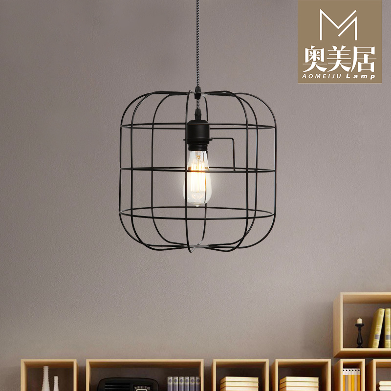 Nordic Ikea Living Room Dining Chandelier Lift Cage Vintage American Country Wrought Iron Lamps Creative Bedroom In Price On