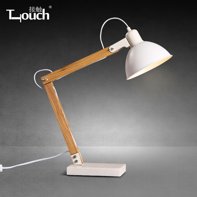 Nordic Wood Table Lamp White Modern Minimalist Office Desk Computer Study And Work Long Arm In Price On M Alibaba