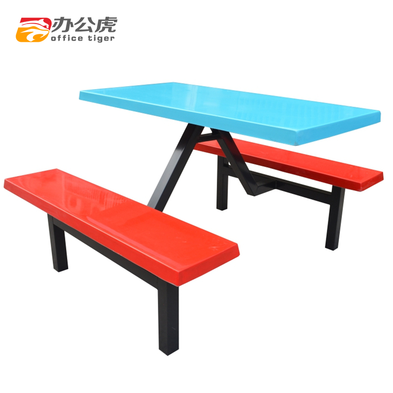 Buy Office Tiger Four Bits Of Glass And Steel Dining Tables And Chairs  Factory Canteen Fast Food Restaurant Tables And Chairs Combination Dining Table  And ...