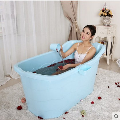 Buy Jialin adult plastic tub bath barrel bath barrel bath tub bath ...