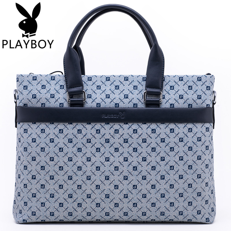 a69591bd69 Buy Playboy playboy men  39 s new man bag business casual bag big bag  shoulder bag laptop briefcase bag cross section in Cheap Price on  m.alibaba.com