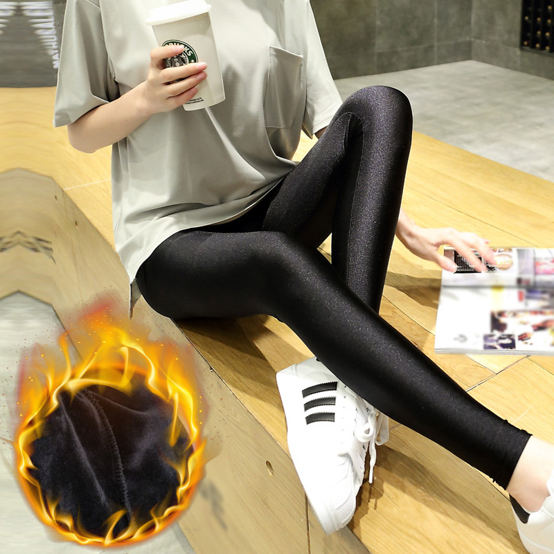 Buy Plus Thick Velvet Leggings Pregnant Maternity Pants Fall And Winter Shiny Autumn Prop Belly Maternity Autumn Winter Outer Wear Trousers In Cheap Price On M Alibaba Com