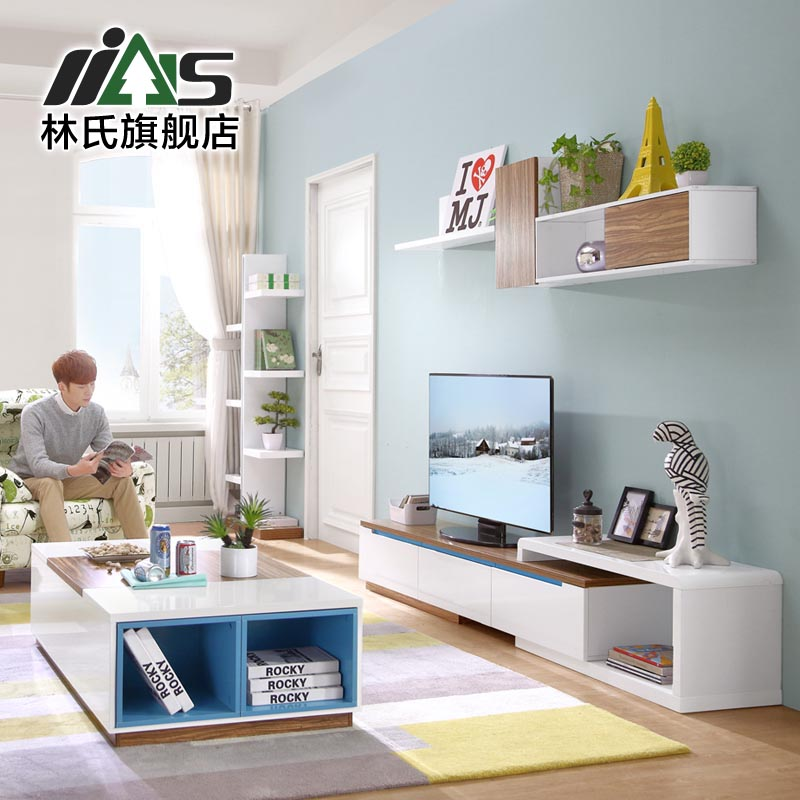 Buy Pre Lin Scandinavian Furniture Retractable Tv Cabinet Tv Cabinet Modern  Small Apartment Living Room Tv Cabinet Hanging Cabinet Portfolio BI5M In  Cheap ...