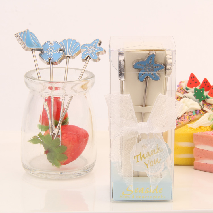 Promotional Wedding Favor Supplies Gift Ideas Small Bo Stainless Steel Fruit Fork Of The Sea In Price On M Alibaba