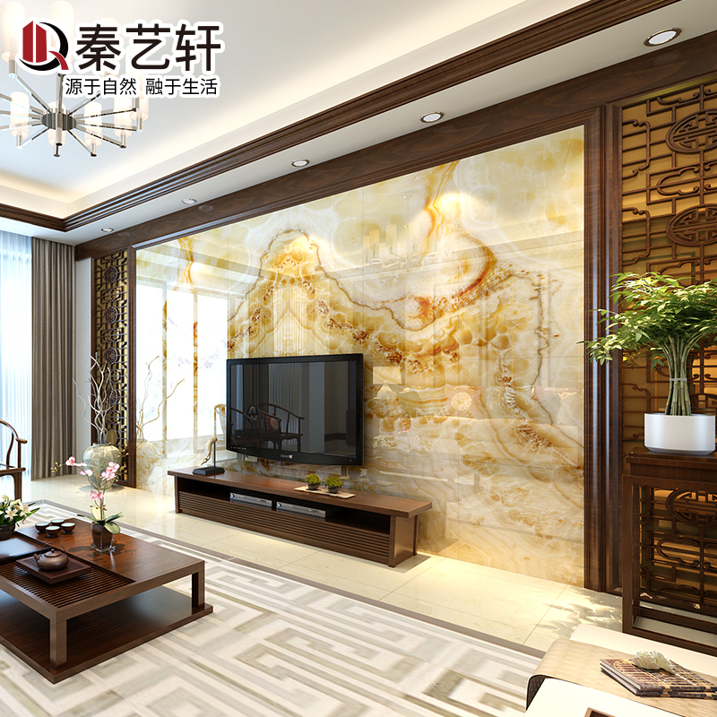 Buy Qin yixuan european living room tv background wall tile ceramic ...